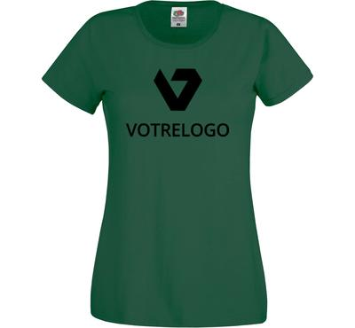 T-shirt femme personnalisé vert