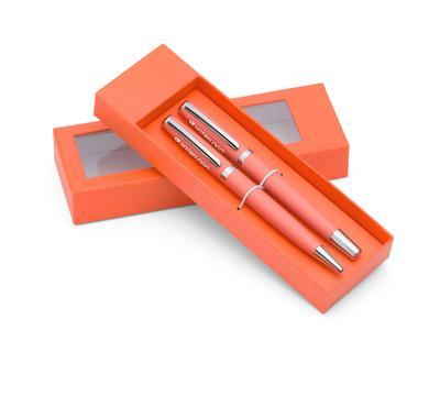 Set à écrire personnalisable orange