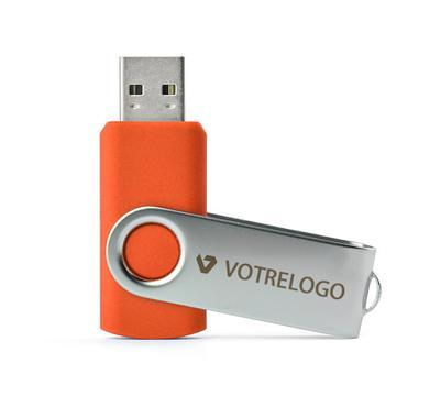 Clé USB TWISTER 16 GB orange