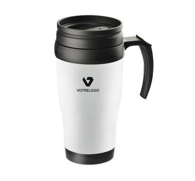 Mug isotherme CLASSIC COLOR 400 ml blanc