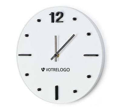 Horloge personnalisable blanche