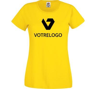 T-shirt femme SC61420 jaune - L