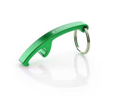 Porte-clés/ décapsuleur ABRI vert