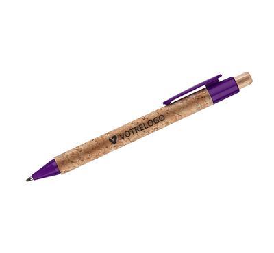 Stylo à bille touch KORTE violet