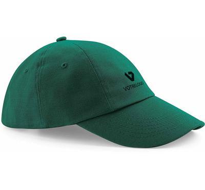 Casquette logotée verte