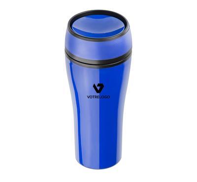 Mug isotherme SPOT 400 ml bleu
