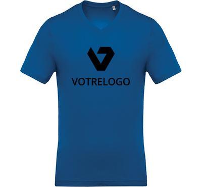 T-shirt homme K370 bleu - L