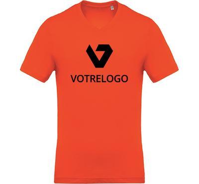 T-shirt homme K370 orange - M