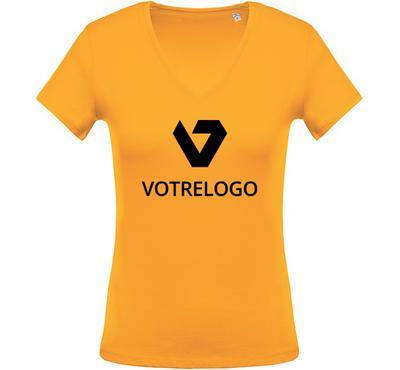 T-shirt femme K390 jaune - 3XL