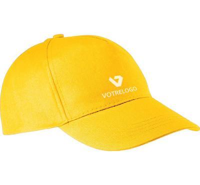 Casquette personnalisable jaune