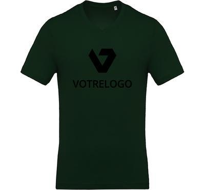 T-shirt homme K370 vert foncé  - L