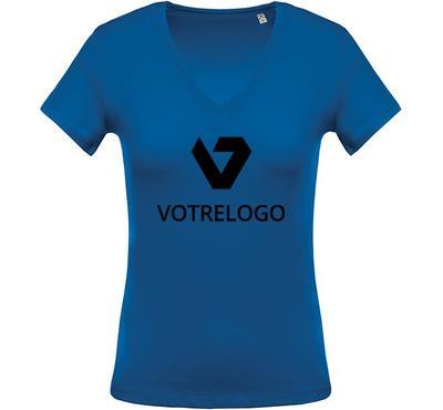 T-shirt femme K390 bleu - L