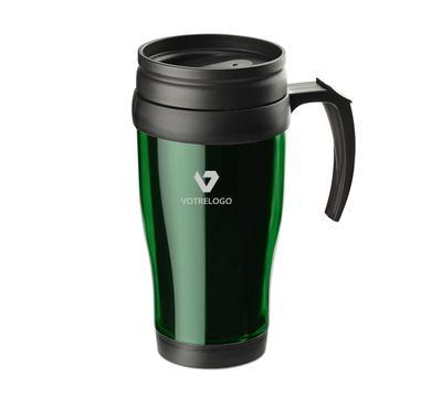 Mug isotherme CLASSIC COLOR 400 ml vert