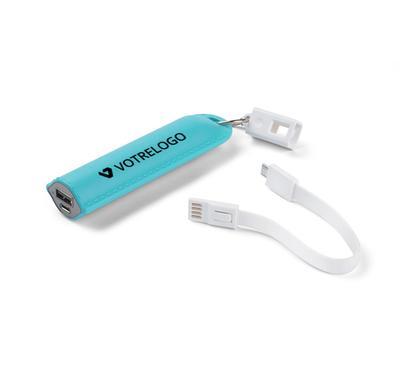 Batterie externe personnalisable turquoise