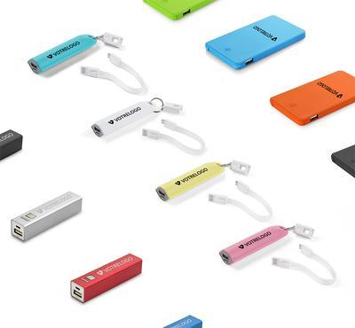 Batteries externes logotées