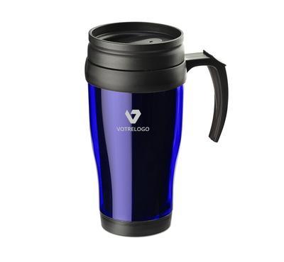 Mug isotherme CLASSIC COLOR 400 ml bleu