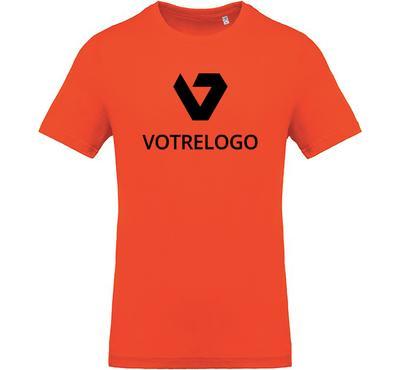 T-shirt homme K369 orange - L