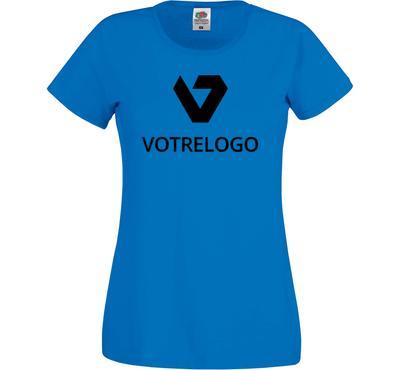 T-shirt femme SC61420 bleu - XS