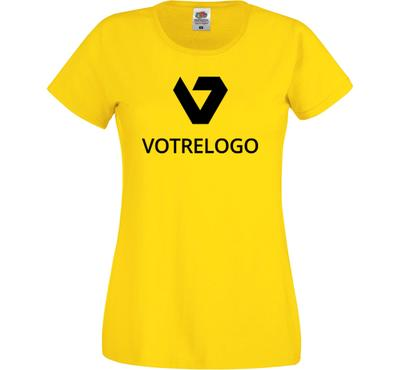 T-shirt femme SC61420 jaune - XS