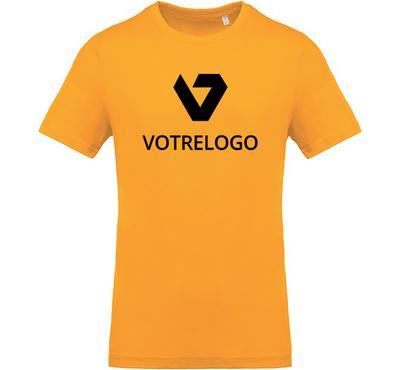 T-shirt homme K369 jaune - L