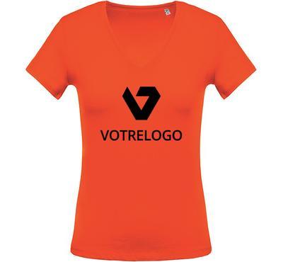 T-shirt femme K390 orange - 3XL