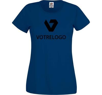 T-shirt femme SC61420 bleu marine - L