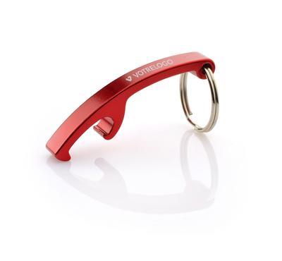 Porte-clés/ décapsuleur ABRI rouge